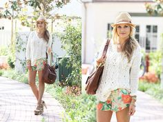 Melissa Odabash Cameron Panama Hat, Free People Cross My Heart Pullover, Alice And Olivia Butterfly Shorts, Or Yany Bag, Flogg Rainbow Metallic Clog Sandals