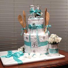 Wedding Shower Kitchen Towel Tower