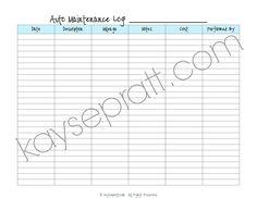 Weddle's Auto Maintenance Tracker | Car Maintenance Tips ...