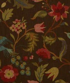 Robert Allen Island Flower Chocolate Fabric - $47.8 | onlinefabricstore.net
