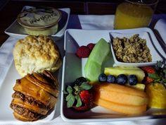 American Airlines 777-200 Light Breakfast