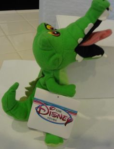"Disney Plush ""Peter Pan"" Crock Bean Bag Stuffed Animal - NWT - Free Ship"