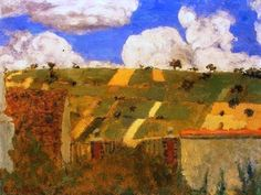 Edouard Vuillard - Landscape of the Ile-de-France, 1894 at the National Art Gallery Washington DC