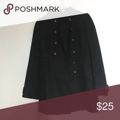 H&M black coat Good condition ! H&M Jackets & Coats