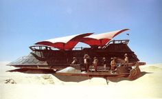 Jabba's Sail Barge and a  Desert Skiff