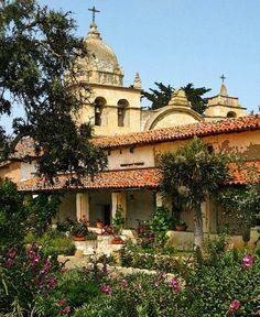 Carmel Mission, Carmel, California by Linda Hartong