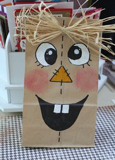 Thoughts That Stick . : Scarecrow Treat Bag