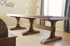 DIY Farmhouse Table - Wow... I love this, and to think it only costs about $125!