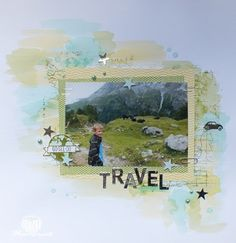 Magical Scrapworld: Travel, let's get away, little letters, scrapbooking, Stampin' Up!, watercolor, world map, layouts