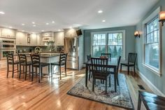 Ideal kitchen- so much seating! so many options!