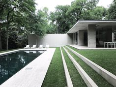 """""""Thank you for your hospitality The Beck House - Everything here is about alignment Philip Johnson 1964 architecture in Terrace Design, Garden Design, House Design, Landscape Architecture, Landscape Design, Architecture Design, Modern Landscaping, Backyard Landscaping, Outdoor Spaces"""