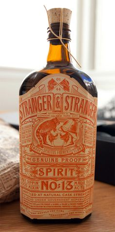 Stranger and Stranger- Spirit No13- promotional gift by bottle/packaging design shop
