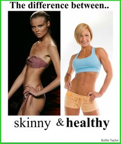 "If we want to be healthy, happy, and feel great about ourselves..we should aspire to look more like Jamie Eason who is the woman portraying the ""healthy"" side. So hopefully we can help encourage others who are having trouble with their weight and not put them down with negativity. Be Healthy. Be Happy."