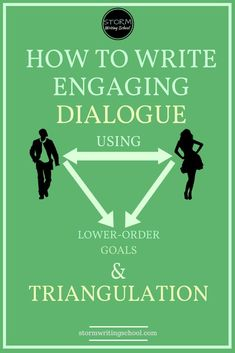 To avoid flat dialogue scenes, learn to triangulate the characters' interaction with a lower-order goal. Writing tips, tips for writing, tips for writers, writer tips, how to write, writing resources.