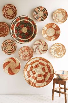 Straw basket wall art from Urban Outfitters