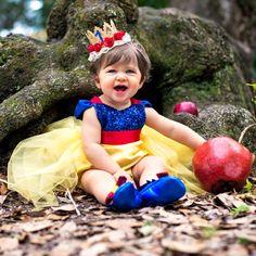 Snow White Tutu Sparkle Romper Full Length Tutu