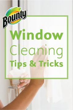 Keep your windows clear of streaks and dirt with these Window Cleaning Tips & Tricks. With some Bounty Paper Towels, window cleaner, and a few other household tools, you'll have your windows looking squeaky-clean and ready for spring.