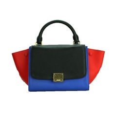 da22097a6c Celine Nano Trapeze Bag Original Leather C88038 Blue Black Red -  259.00  Celine Trapeze Bag