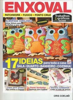 Patchwork and applique lots of Patterns - Picasa Felt Embroidery, Embroidery Patterns Free, Patchwork Tutorial, Sewing Magazines, Knitting Books, Crochet Magazine, Book Quilt, Pattern Books, Book Crafts