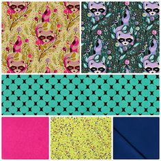 Fabric Friday - Enchanted Racoons - Tula Pink, Free Spirit, Michael Miller, Northcott and Alexander Henry
