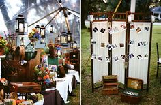 I LOVE the picture idea, with my white stand...    http://iloveswmag.com/real-wedding/ashley-steve/