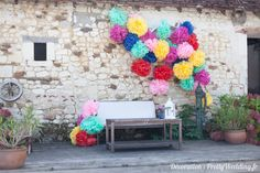 #pompoms #couleurs #ambiance #décoration #mariage #pretty #wedding @Pretty Wedding