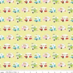 Collection:Glamper-licious Designer:Samantha Walker Camper Fabric Manufacturer:Riley Blake Designs Manufacturer Item Number:C6311-GREEN Fabric Content: 100% cotton, 44 in