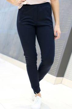 One- Miley Navy Stripe 2nd One, Navy Stripes, Pants, Fashion, Moda, Trousers, Fashion Styles, Women Pants, Women's Pants