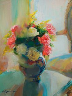 """Saatchi Art Artist: Natalia Baykalova; Oil 2012 Painting """"""""Sweet Smell of Roses"""""""""""