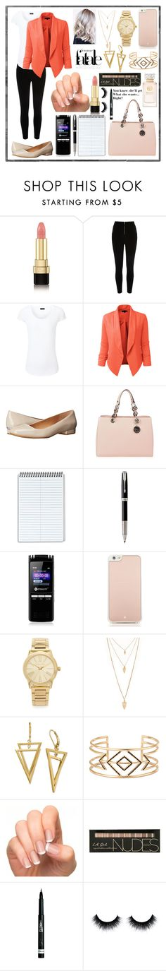 """""""Office day"""" by floraljewels ❤ liked on Polyvore featuring Dolce&Gabbana, Joseph, LE3NO, Calvin Klein, MICHAEL Michael Kors, Classified, Parker, Kate Spade, Michael Kors and Forever 21"""