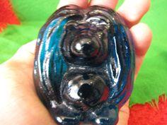 Sweden Bergdala art glass cobalt  blue Troll figurine Decor  #Bergdala