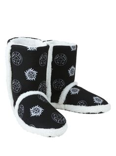 These boots are made for huntin' // Supernatural Symbols Slipper Boot