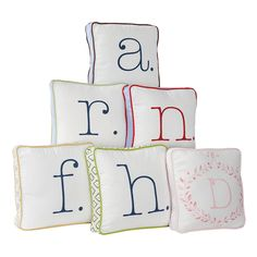 {Typewriter Letter Pillow} love how playful these are; great for kids' rooms but also in a living room, etc!