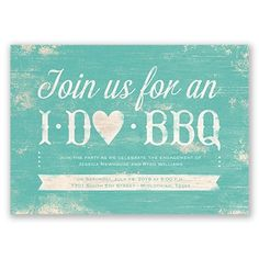 """I Do BBQ"" Engagement Party Invitation from www.invitationsbydawn.com"