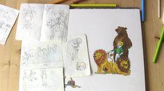 De beer is los! ;) Uit het boek van Pien, wordt vervolgd....  Illustratie uit kinderboek PIEN, Myrthe v/d Meer (voorjaar 2016)