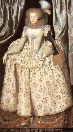 Catherine Lyte Howard by William Larkin, ca 1613 England