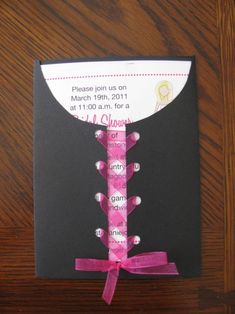 Girls Night Out event   Shower/Bachelorette invite DIY by my Sister! « Weddingbee Boards