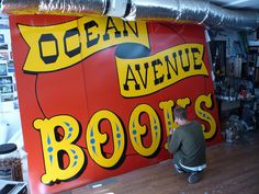 Ocean avenue books - hand painted sign by New Bohemia Signs, San Francisco CA