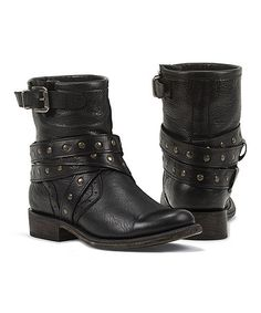 This Black Nena Leather Ankle Boot by Black Star is perfect! #zulilyfinds