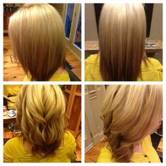 Reverse Ombre done by Shannon at The SPA Bells Corners. This is a popular hair trend for 2013