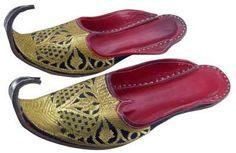 Image of Mens Khussa Shoes Zari Embroidery Punjabi Jutti / Mojari Indian Clothing (B00A3ISKII)
