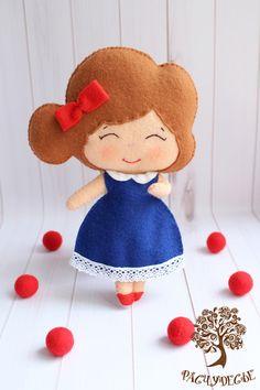 """Человечки ручной работы. Ярмарка Мастеров - ручная работа. Купить Игровая кукла из фетра """"Маленькая леди"""". Handmade. Фетр, девочка"""