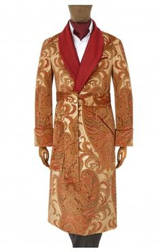 Paisley Velvet Gown - Red/grape - British Pounds