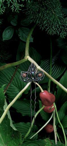 Шпилька Осенний цветок | Аксессуары - авторская работа на Uniqhand