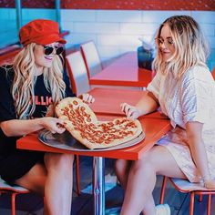 We got pizza, and it's heart shaped! 😭🍕 Pretending this was part of Mary-Kate and Ashley's deleted scenes from New York Minute so we could get pizza on the photoshoot! Heart Shaped Pizza, New York Minute, Ashley S, Heart Shapes, Mary, Photoshoot, Photo And Video, Youtube, Instagram