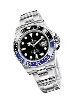 Rolex GMT-Master II Of course, a Rolex is always a safe bet as a holiday gift. The new 2013 GMT-Master II, with its stainless-steel-ca. Fine Watches, Sport Watches, Cool Watches, Watches For Men, Rolex Oyster Perpetual, Luxury Watches, Rolex Watches, Rolex Gmt Master 2, Shopping