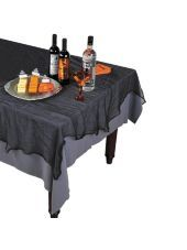Black Cheesecloth Table Cover - Party City  #partycity #halloween
