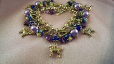 GOLDEN RETRIEVER-ag6- Jewelry - Free Gift -  Charm Bracelet- Free Shipping - Handmade by Artisan - Last One by HOBBYHORSELADY on Etsy