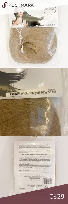 NWT BELLAMI Faux wrap pony tail 💁🏼‍♀️ Brand new, never removed from packaging or tried on Sold out on Bellami website See description in images  Retails $39.99 usd  Smoke free home  Bundle & save 💃 BELLAMI Accessories Hair Accessories Ponytail, Women Accessories, Packaging, Smoke Free, Website, Closet, Fashion Tips, Things To Sell, Style