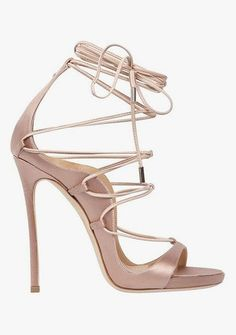 Dsquared2 Riri pink satin lace up sandal